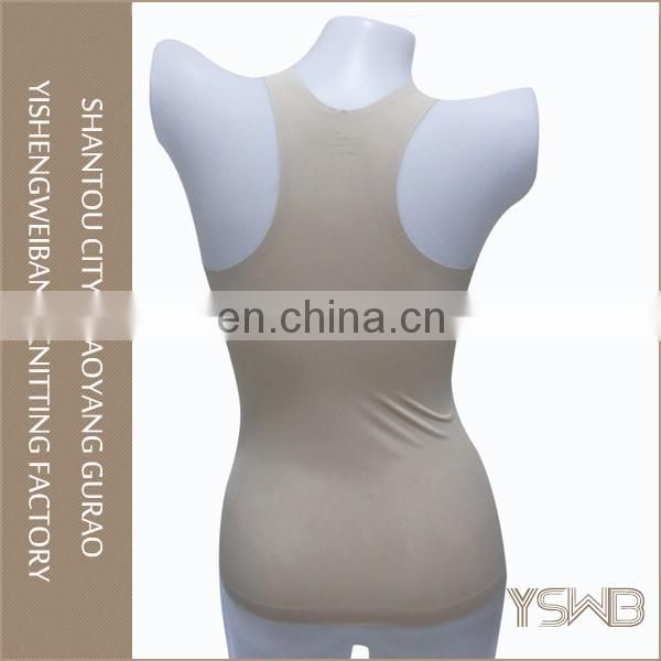 Factory price woman breathable tight elastic plain camisole