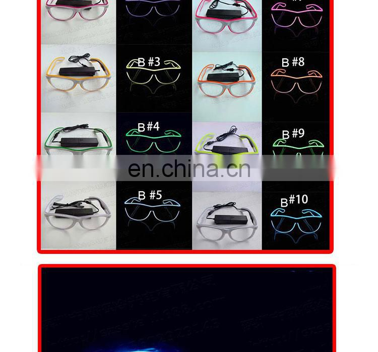 Wholesale led flashing light up el glasses glow el Wire Party Glasses