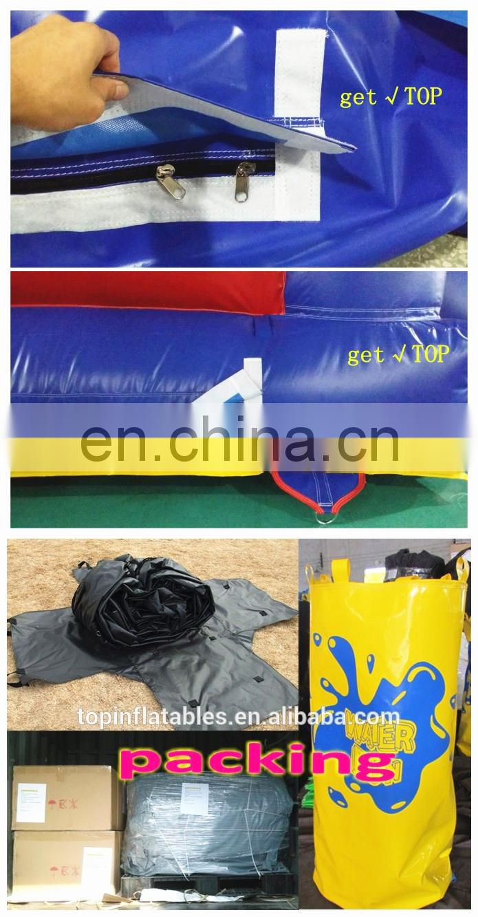 TOP INFLATABLES New design inflatable baby bouncer with mosquito net water slide mat