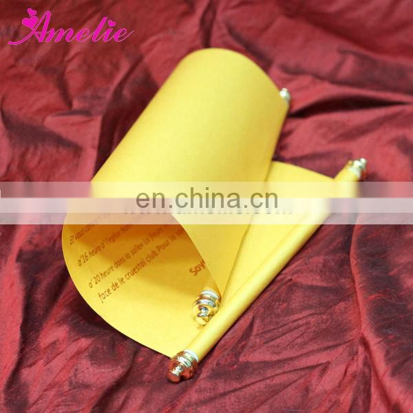 AS005 Gold Color Scroll With Tassels Classical Invitation Card