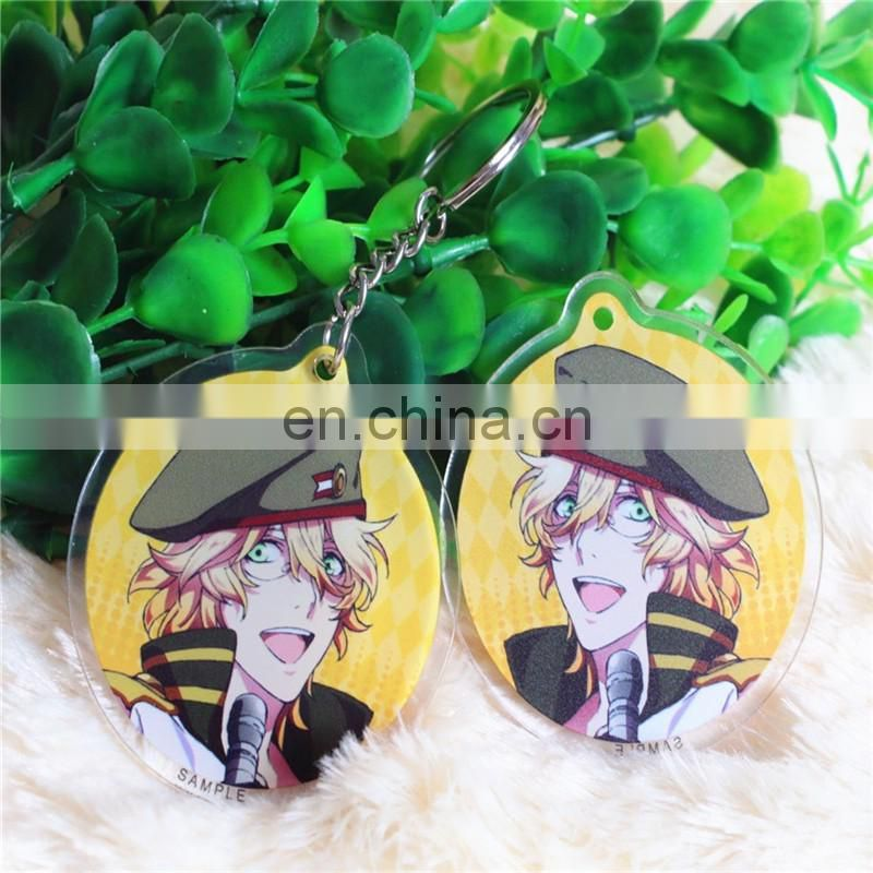 Promotional gift Printed Acrylic cartoon Keychain