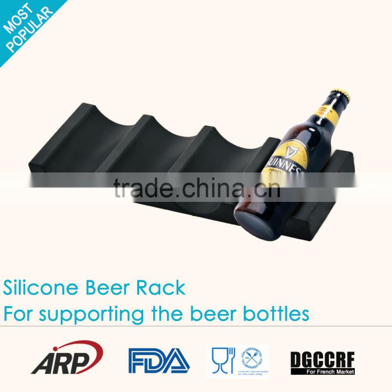 Trendy colorful silicone beer rack wine rack