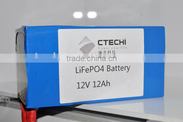 buy China factory high quality 12V 12Ah LIFE PO4 Rechargeable Battery