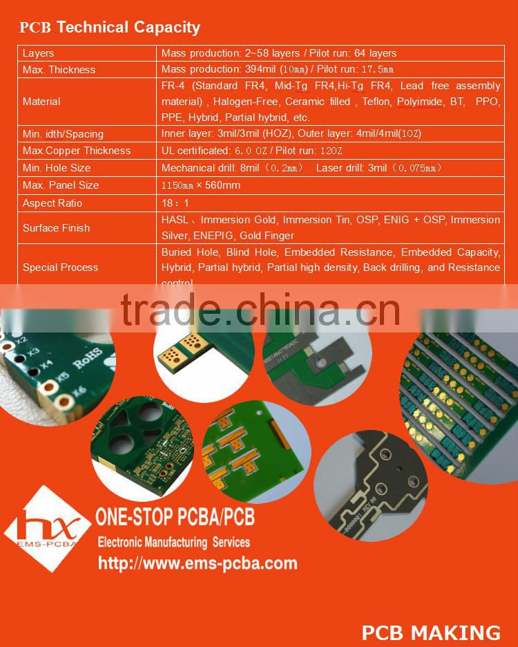 tg 135 metal detector pcb electronic circuit board of PCB Making