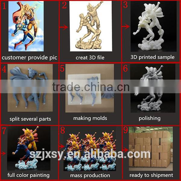plastic animal statue movie character pvc dragon statue