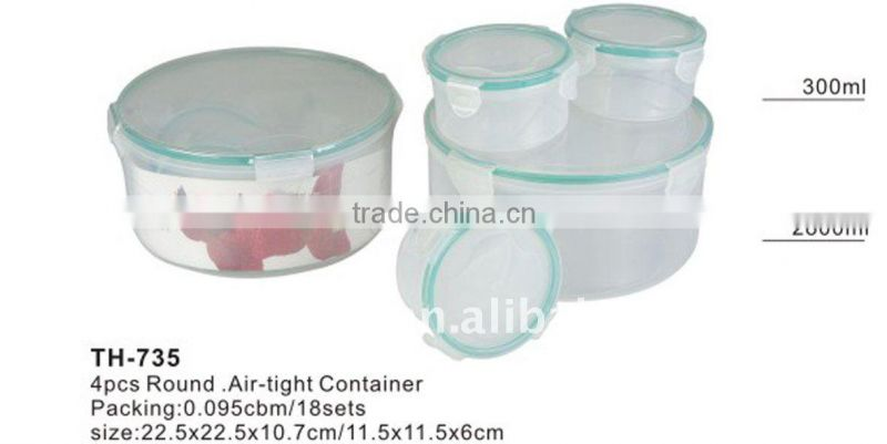 Plastic airtight food containers and lunch storage box
