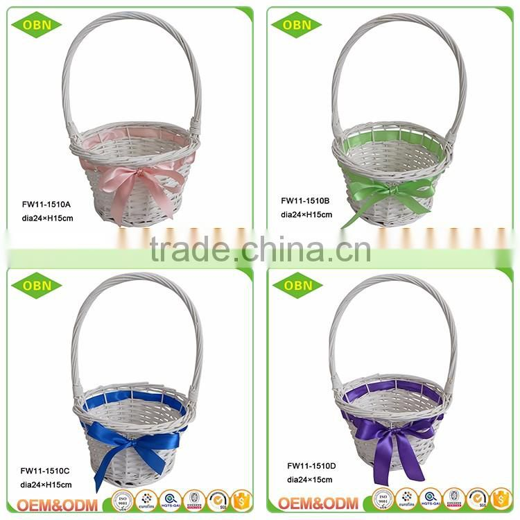 Wholesale high quality handmade cheap bulk chic vintage empty woven wicker gift basket