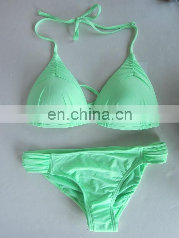 Fashion Solid Bright Light Blue Bikini