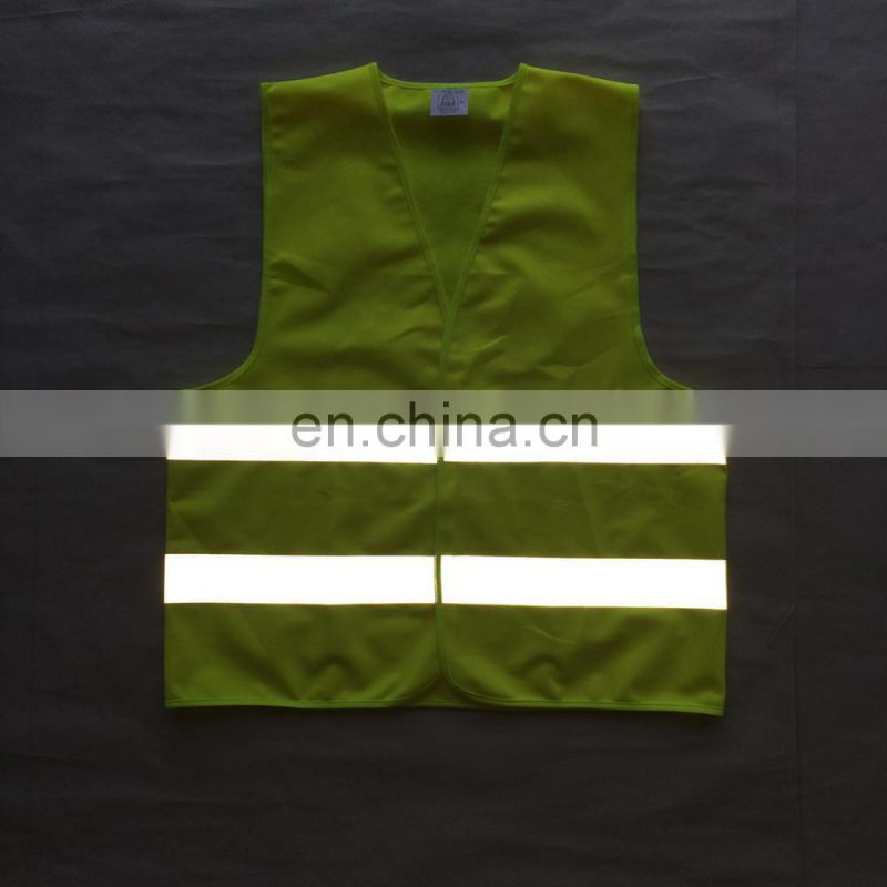 100% polyester safety vest yellow and orange safety vest high visibility