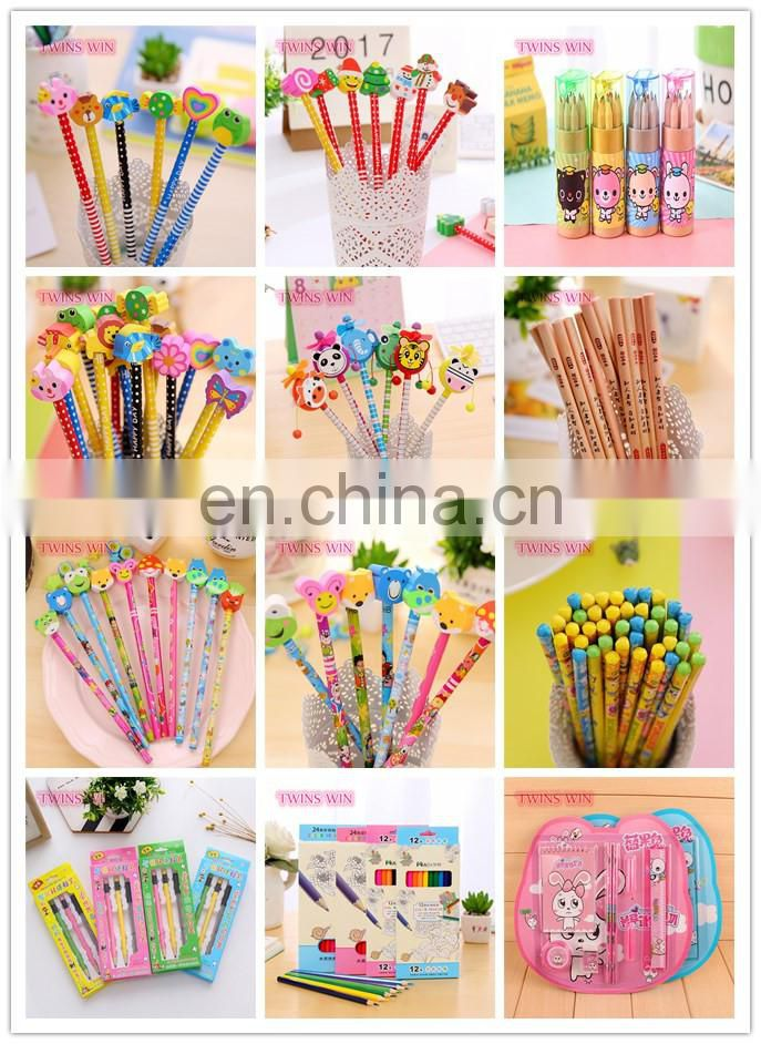 Most popular japanese 2018 school popular stationery ,High quality free samples 3pcs/pack wooden artist pencil drawing set