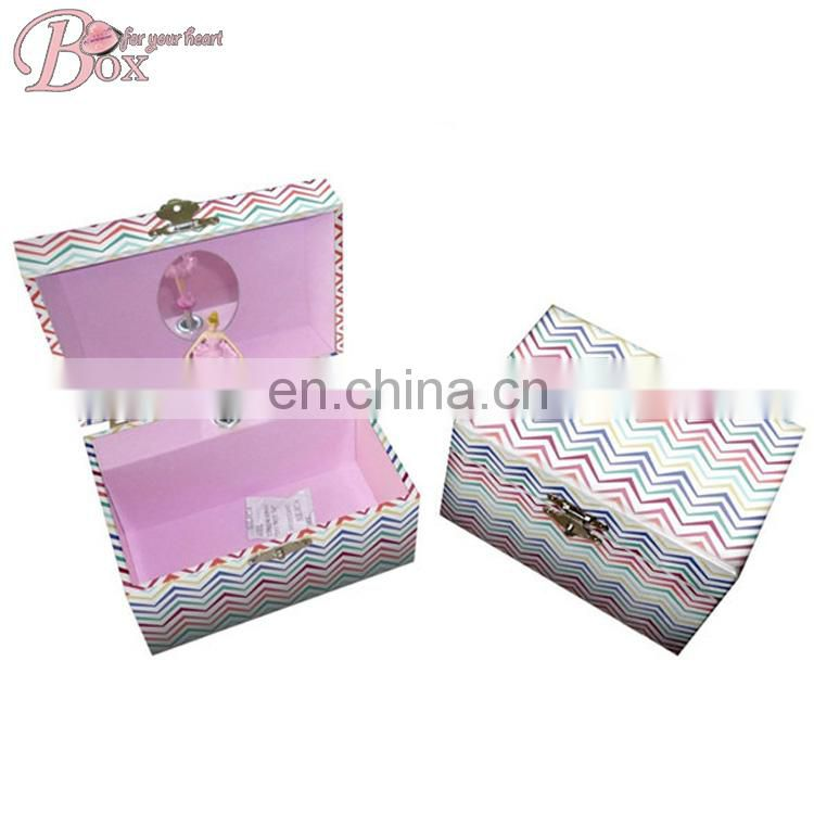Newest Design Paper Cardboard Gift Music Box With a Dancing Ballerina