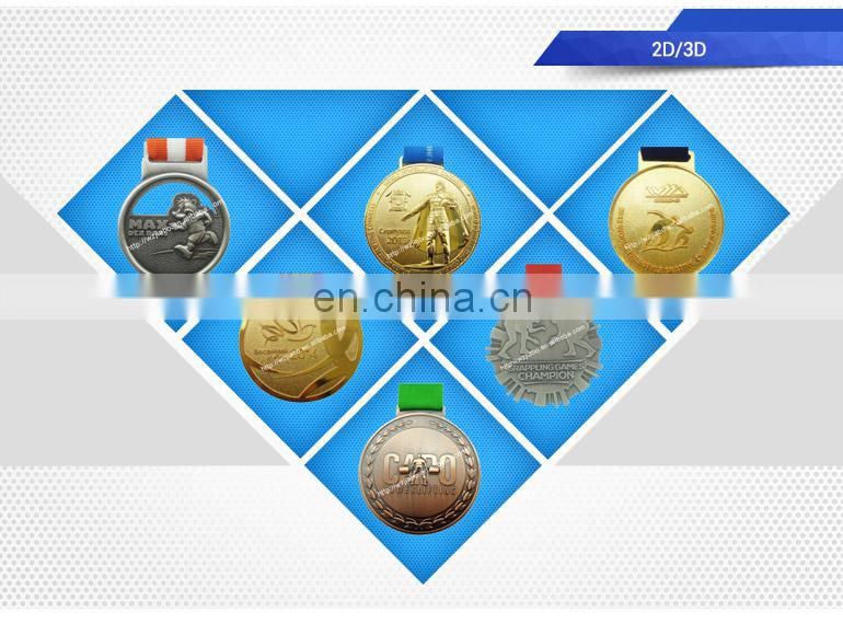 high quality hollow custom metal sports blank medal