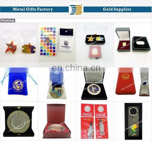 High quality custom decorative silver gold two-tone souvenir metal plate