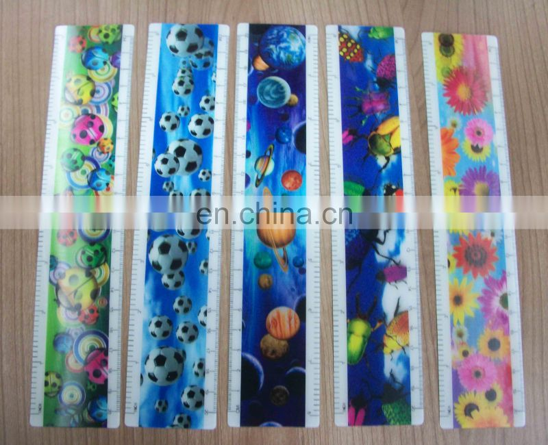 UV printed lenticular effect measuring rulers