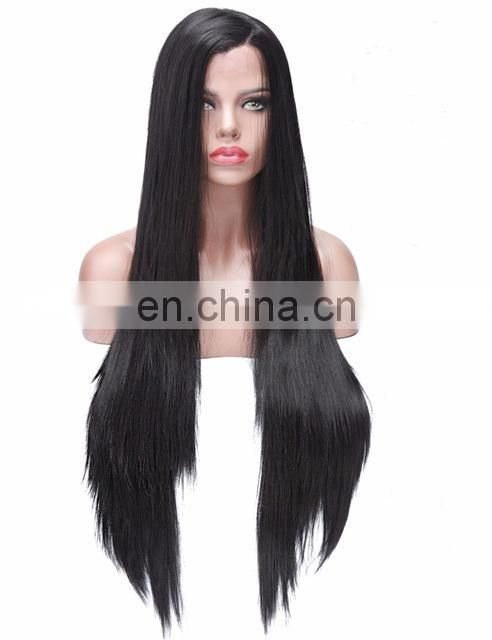Peruvian hair preplucked straight wave human hair full lace wig