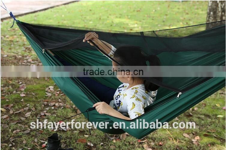 Large size double persons Parachute Hammock with mosquito netting and canopy Tarp