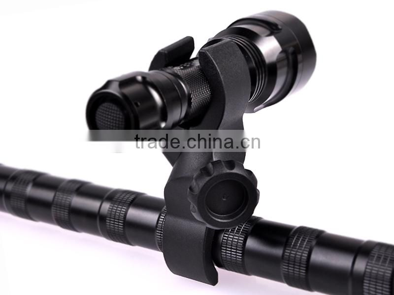 High Quality 2x25mm Plastic bicycle mount for led flashlight
