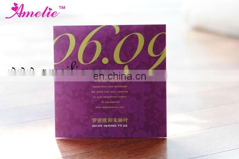 A7170 Wholesale Photo Frame Wedding Invitations