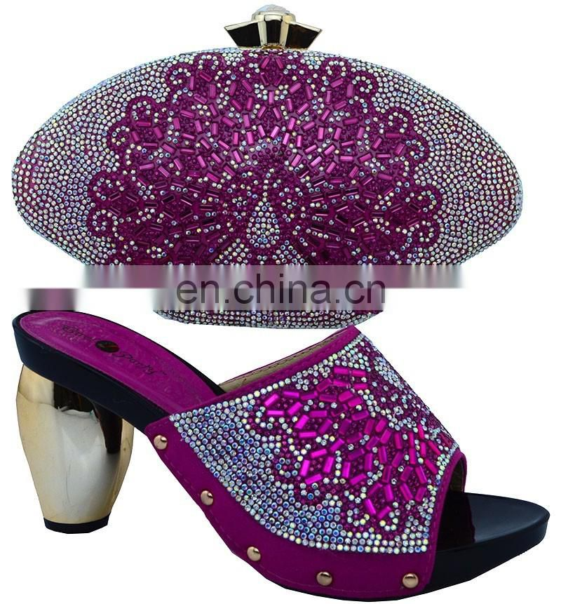 Ladies shoe and matching bag set/ italian wedding shoe and bag