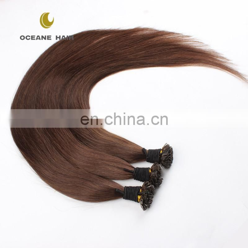 double drawn 100 keratin hair flat tip hair extension