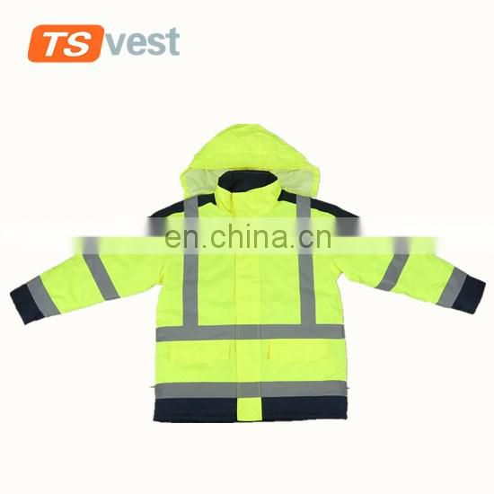 Promotional bright yellow hi vis reflective safety jackets for sale