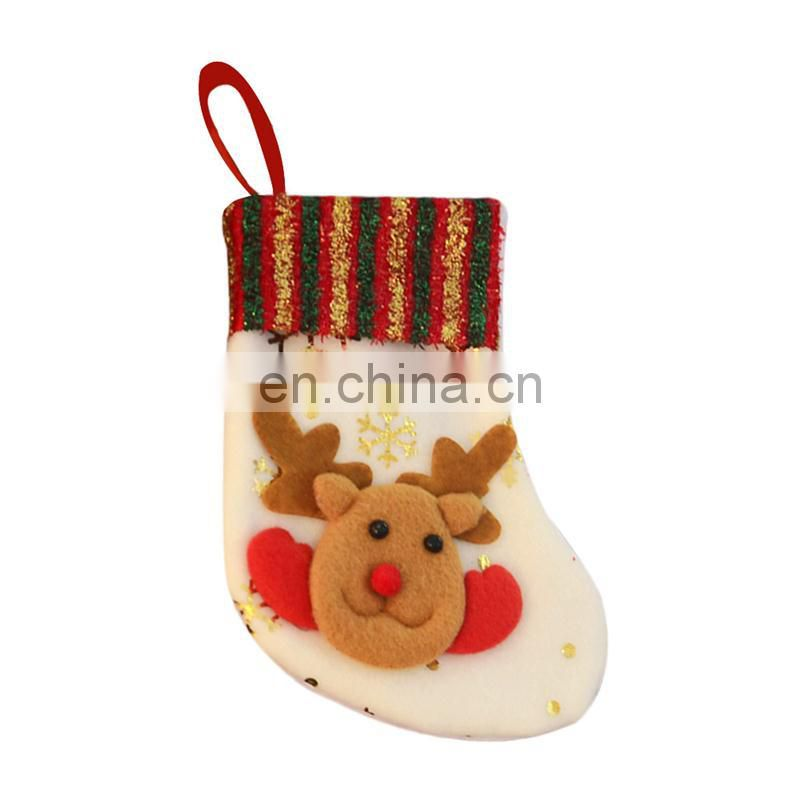White Soft Christmas stocking sublimation Blank socks