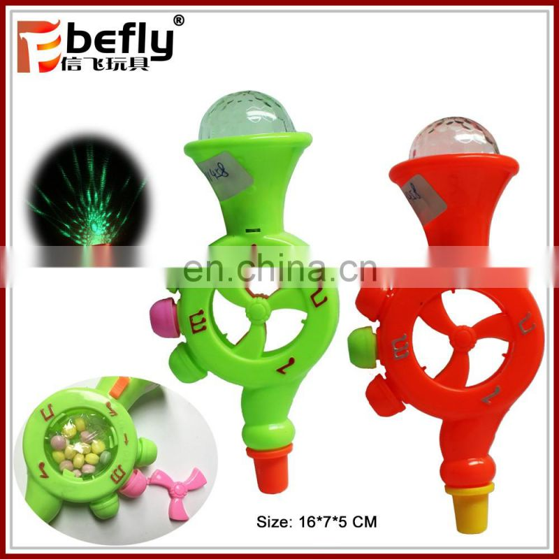 Wholesale plastic whistle candy toy with light