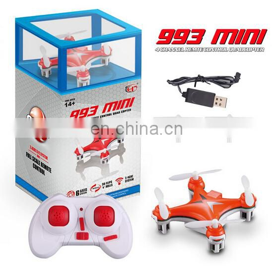 RC mini quadcopter 2.4G Remote control Toys 4 CH 6 Axis 993 VS CX-10 and CX-11 Nano Quadcopter