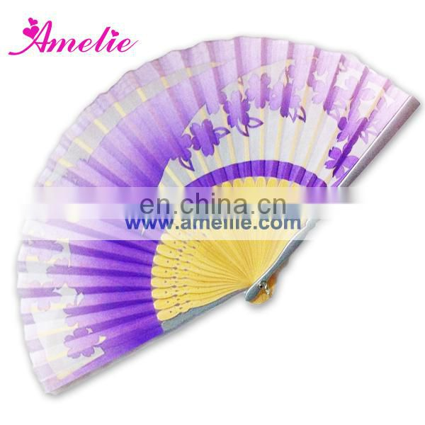 AF1438 Cherry blossom painted Japanese fan