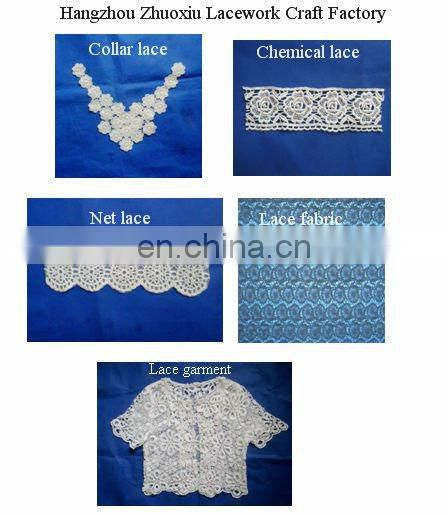 Hangzhou fashional water soluble lace collar