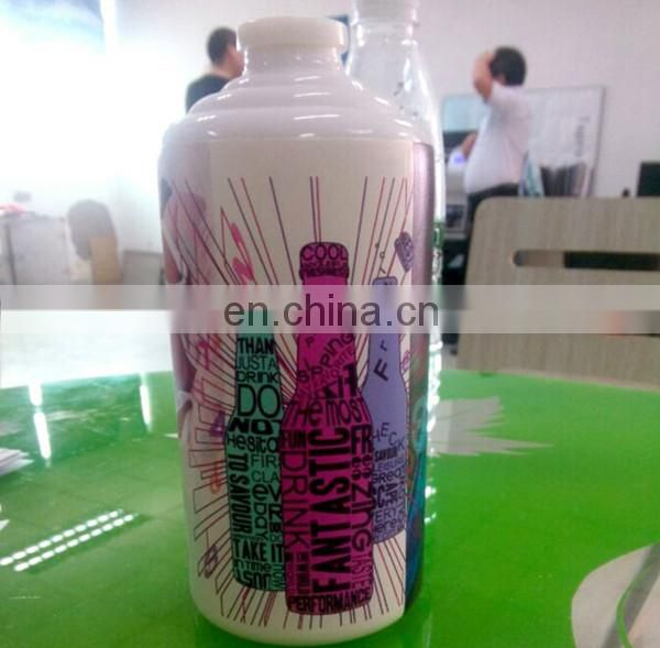 Cocktail bottle digital uv printer with two head