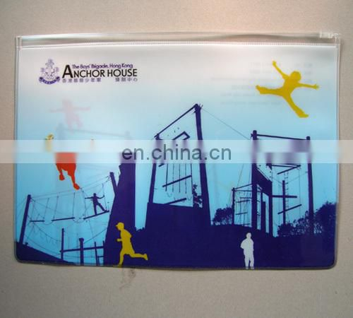OEM design printed custom pvc zipper bag