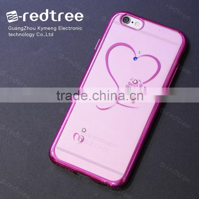 Sublimation Heat Dissipation Electroplate TPU cell phone case for iphone 6 7