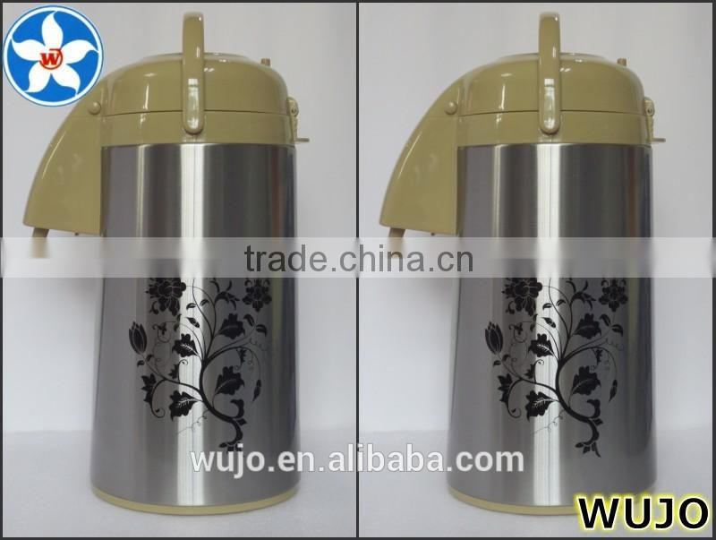 3.0L Vacuum Flask, air pot with glass refill inside, keep hot or cold for beverage, popular selling thermos