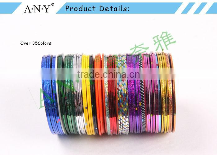 ANY Mixed Colorful Beauty Rolls Nail Striping Tape Line DIY Design Nail Art Stickers For Nail Decorations