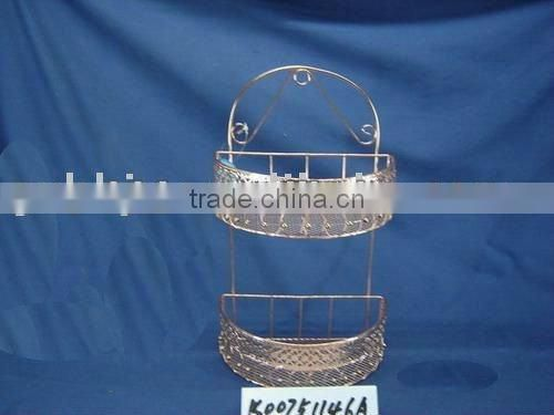 Cuprous steel wire semicircle home storage hanging basket