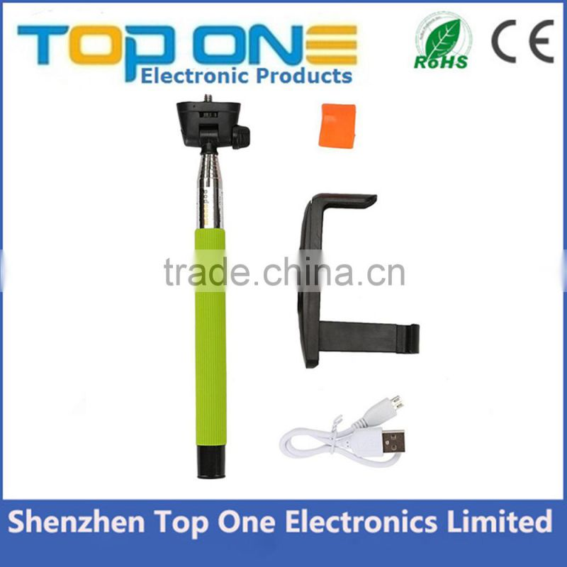 Z07-5 Handheld extendable Bluetooth selfie stick monopod for iPhone and Samsung etc smartphones