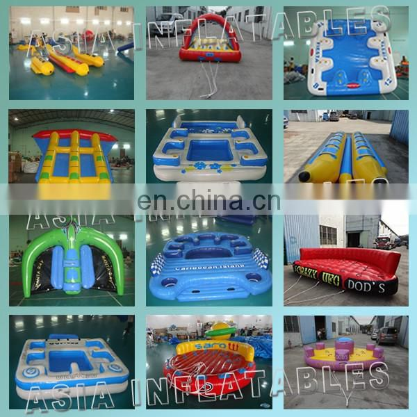 Durable PVC inflatable water polo goal for water park game