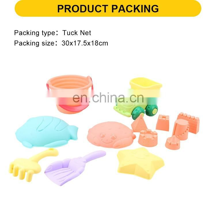 14pcs Sand Toys Good Quality Plastic Beach Mini Sand Castle Molds Toy