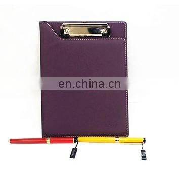 colorful fashion leather file folder for office