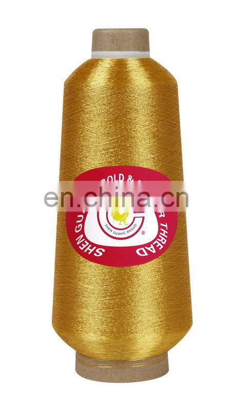 Gold Shanghai metallic embroidery yarn