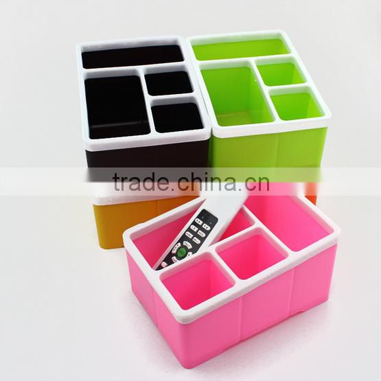 New design colorful multipurpose television air conditioner Remote Control Storage Box/ plastic storage box