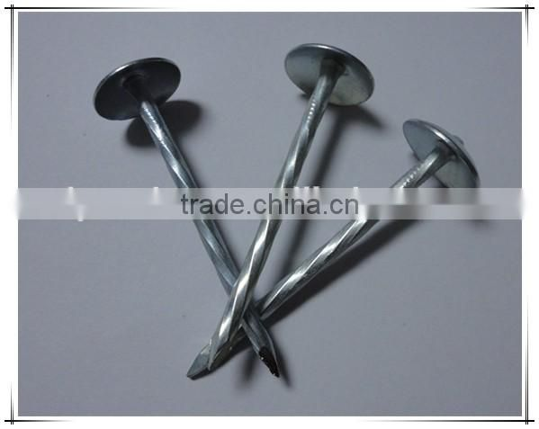 2.5 inch Umbrella Head roofing nail twisted Shank Roofing Nail factory price