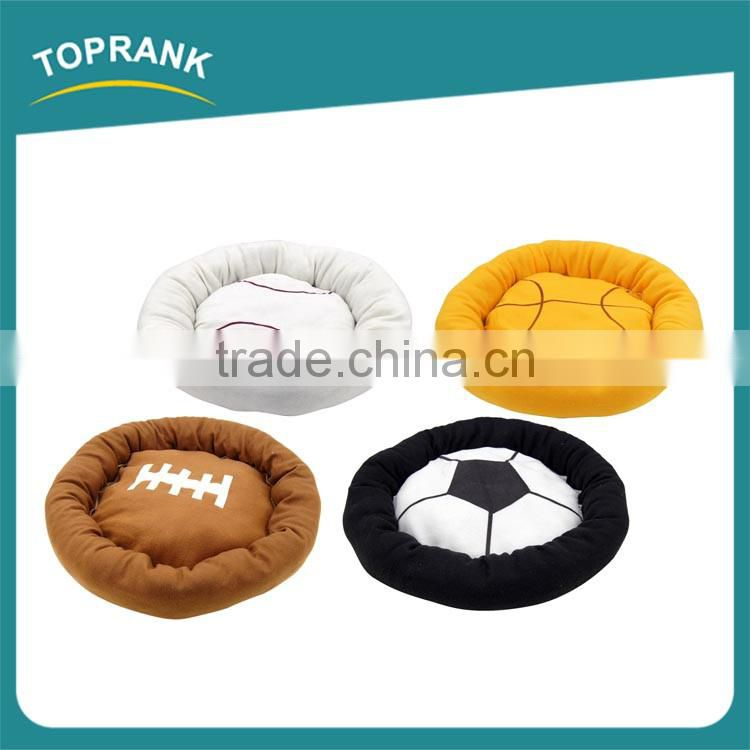 Custom design sport balls style soft plush pet dog cushion