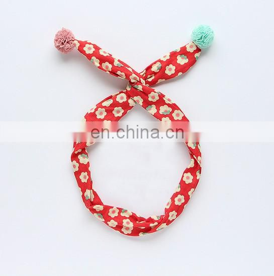 Boho Baby Headband With Lace Ball Infant Fruit Hairband Summer Headbands For Baby Party Photo Prop
