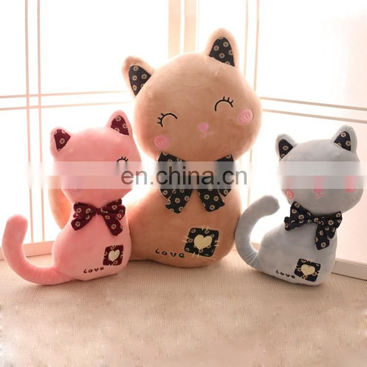 Kids favorite soft interactive plush cat toy wholesale