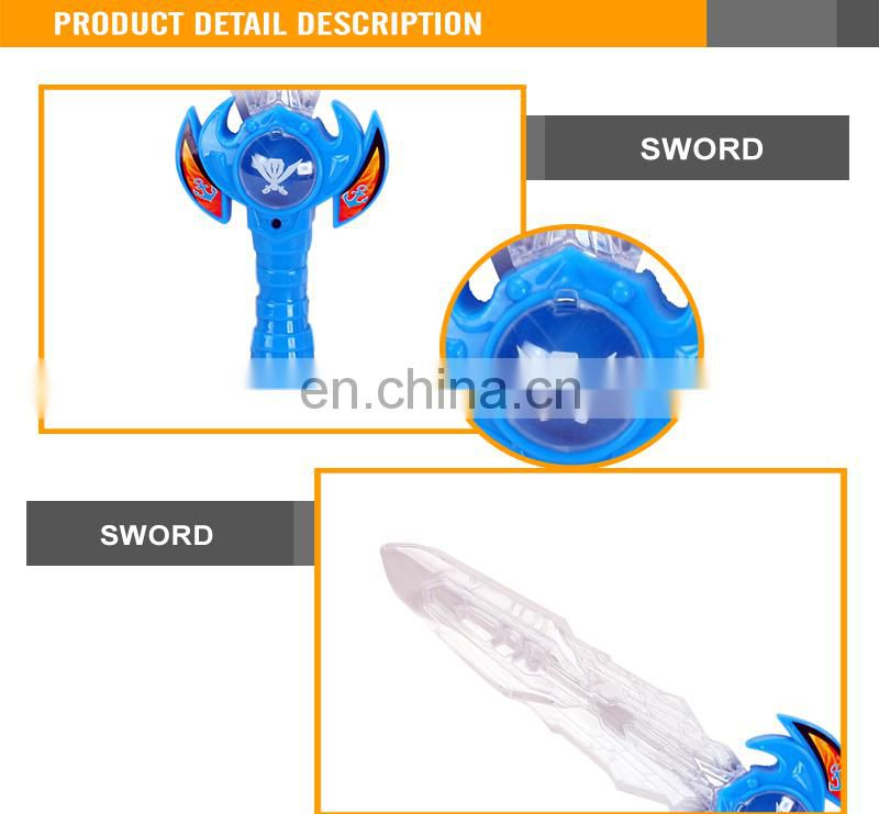 Funny plastic toy 34CM led flashing medieval light plastic laser sword