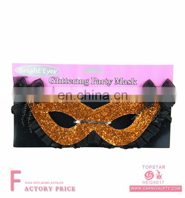 Male glod gold halloween maskmasks glittering eye masks