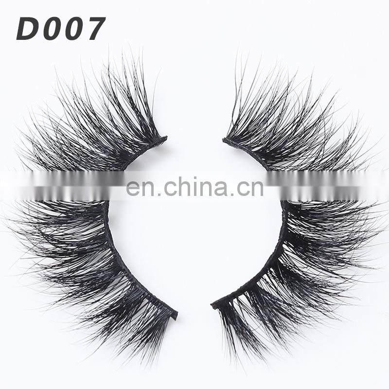 D007 3d mink eyelashes wholesale black feather eyelash extension