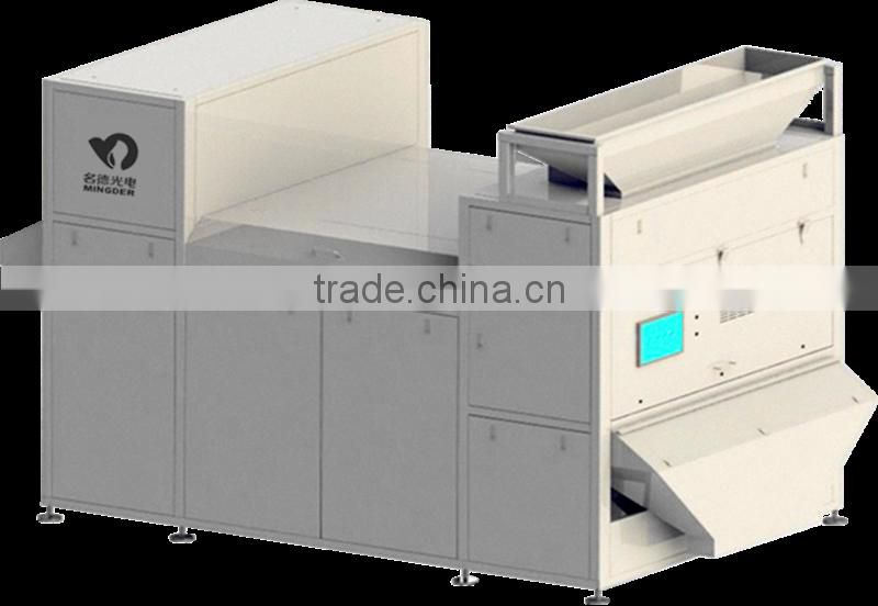 Recycled plastic CCD color sorter machine
